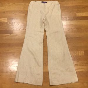 Ralph Lauren Purple Label Linen Wise-leg Trousers